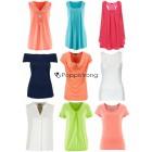 Damen Sommer Oberteile Mix T-Shirts und Tops