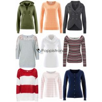 Damen Pullover Sweatshirt Strick Mix