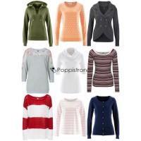 Damen Pullover Sweatshirt Strick Mix