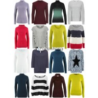 Damen Herbst Winter Mode Textilien Mix - Strick Pullover Sweater Langarm Shirts etc