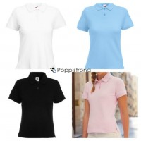 Fruit of The Loom Damen Polo Piquet Mix