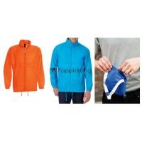 Herren Regenjacke Orange Jacke mit Kapuze
