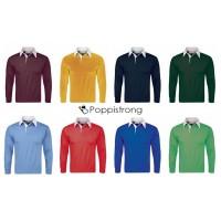 Herren Jungen Polo Shirt Langarm Poloshirt Longsleeve Polos