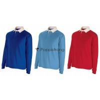 Kinder Jungen Polo Shirt Langarm Poloshirt Longsleeve Polos