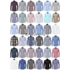 Herren Hemden Marken Hemd Langarm Business Casual Mix
