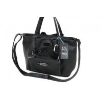 Damentasche Handtasche Schultertasche Umhängetasche PU Tasche Schwarz