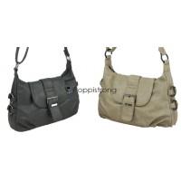 Damen Handtasche Schultertasche Umhängetasche PU Tasche Schwarz Stone