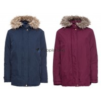 Damen Winterjacke blau rot Outdoor Jacke Winter