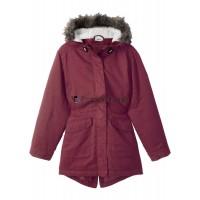 Kinder Mädchen Jacke Übergangsjacke mit Kapuze rot