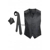 Herren Weste Krawatte Tuch Set Business Mode Anzug