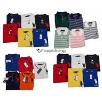 U.S. Polo Assn. Poloshirt Uni Gestreift Herren Polos Marken Shirt Mix