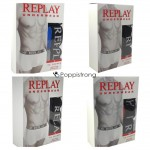 Replay Boxershorts Herren Unterwäsche Mix - 3er Pack