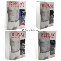 Replay Boxershorts Herren Unterwäsche Mix - 3er Pack