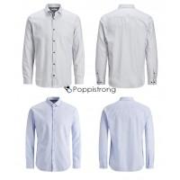 Jack & Jones Hemden Herren Hemd weiß blau